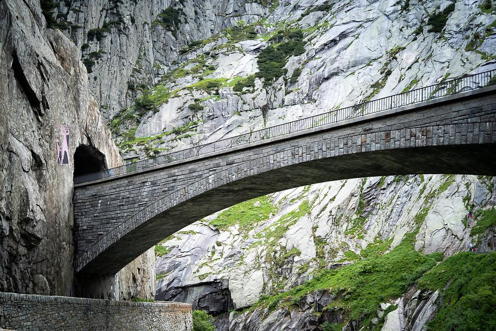 Schöllenen gorge   devilsbridge   Andermatt