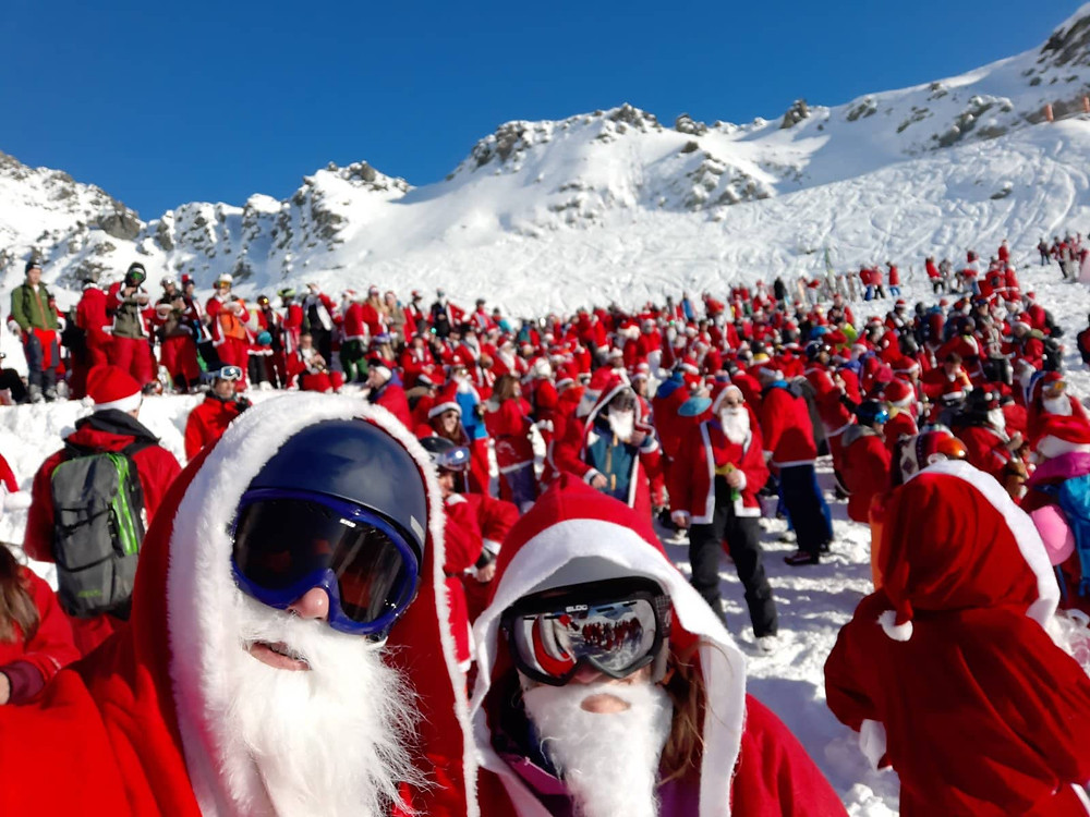 Skiing in Verbier | Switzerland | Santa Clause