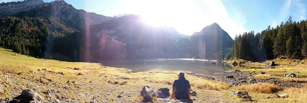 CYou hiking to a mountain lake | Switzerland | Travel