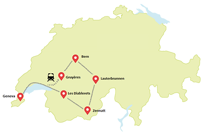Map | Switzerland | Travel Reisen Vacation