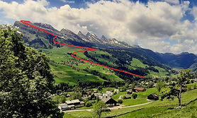 """A full day hike from Unterwasser → Iltios → Stöffeli → the peak of the Chäserugg. The athletic- or """"if-the-cable-cars-are-not-operating""""-version"""