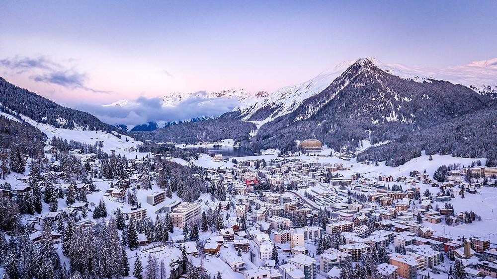 Davos village in snow | eastern Switzerland