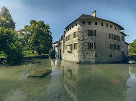 Moated Castle, Burgundy, Seengen, Hallwyl Castle, Lake Hallwyl, prison, mill