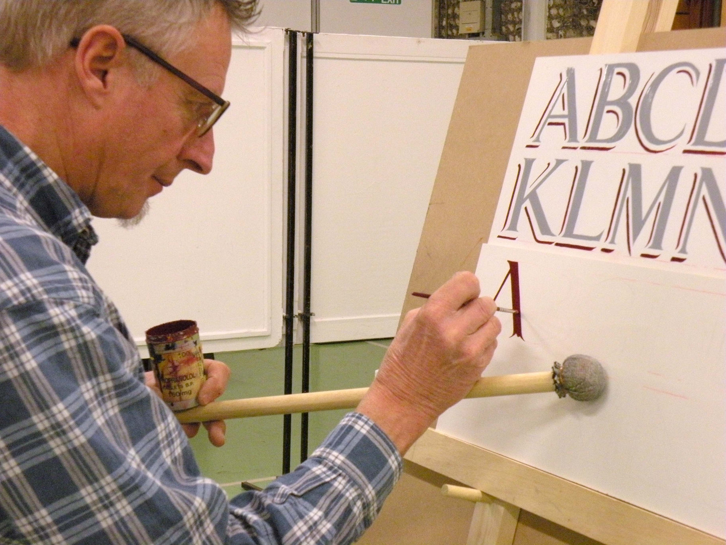 Traditional Signwriting Course lettering