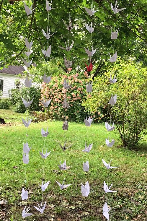 Origami Crane Wall or Window Hanging