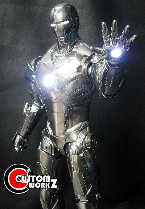 Iron Man MK 2 Armor Unleashed Version Metal Chrome Repaint