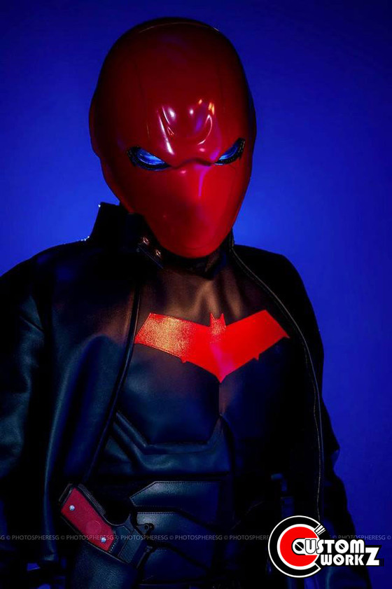 Red Hood Full Suit Cosplay Photoshoot