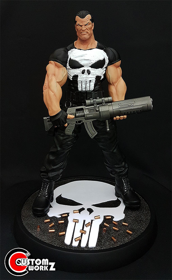 1/4 Punisher Custom Statue/Kit Painting Commission