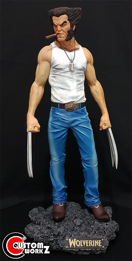 1/4 Wolverine Custom Statue Painting & Assembling Commission