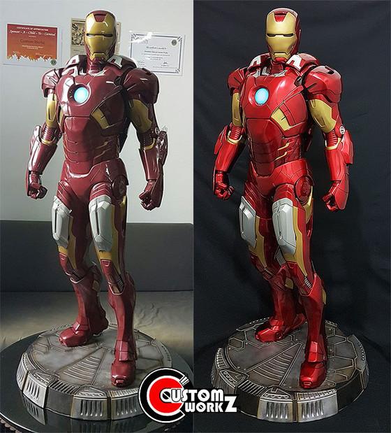 Sideshow Legendary Scale Iron Man MK 7 Statue Repair & Repaint Commission