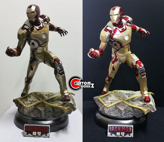 1/4 Sideshow Iron Man MK 42 Statue Repaint Commission
