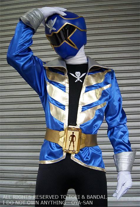 Gokai Blue Gokaiger Cosplay Suit Photoshoot