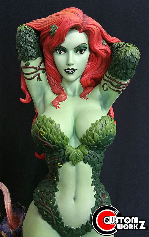 2nd 1/4 Sideshow Posion Ivy Modification and Repaint Commission