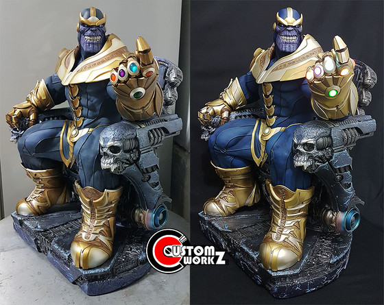 Sideshow 1/4 Thanos Statue Repair & Repaint Commission