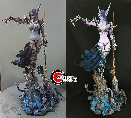 1/4 Sylvanas World of Warcraft Statue Repair & Repaint Commission