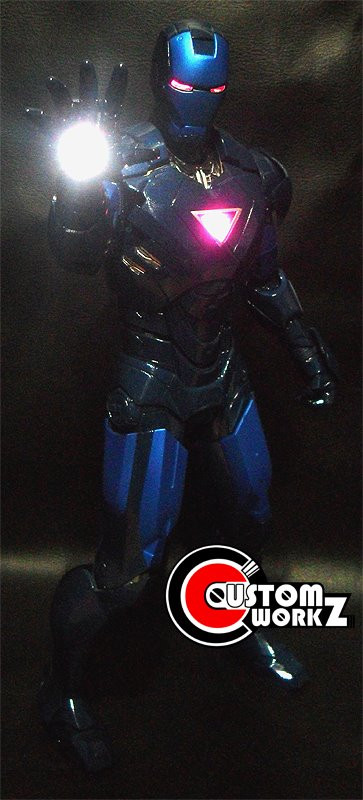 Hot Toys Iron Man MK 6 Custom Repaint to Stealth Iron Man