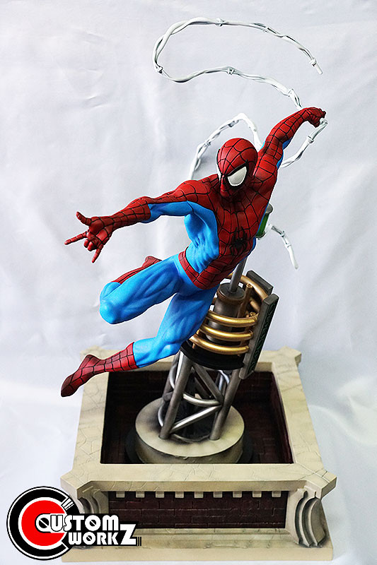 1/4 Eric Sosa Spider-Man Resin Statue Diorama Commission Completed
