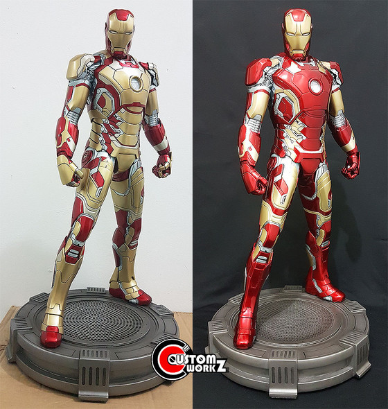 XM 1/4 Iron Man MK 42 Statue Repaint to MK 43 Commission