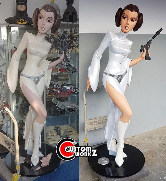 Life Size Star Wars Princess Leia Statue Repair & Repaint Commission