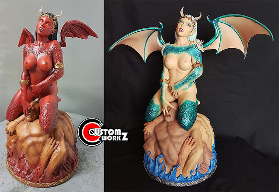 1/4 ARH Galliah Statue Modification & Repaint Commission