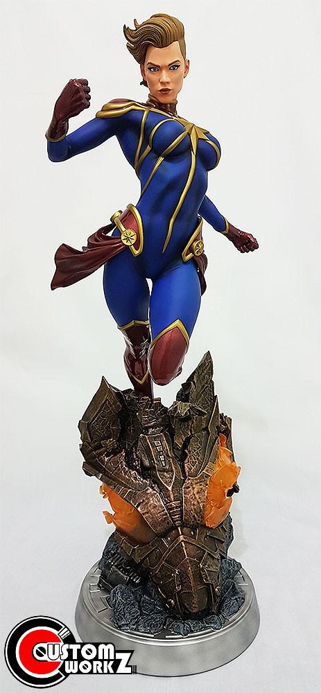 1/4 Sideshow Captain Marvel Premium Format Statue Repair & Repaint Commission