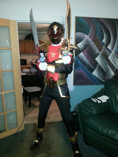 Life Size Gokai Black Ranger Helmet and Costume Completed!!