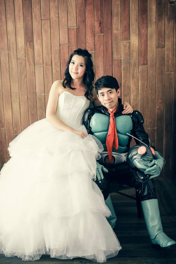 Kamen Rider V1 The First Wedding Photoshoot 2014