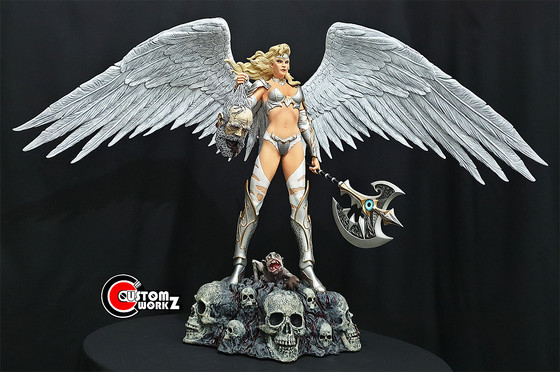 1/4 White Angel Custom Statue