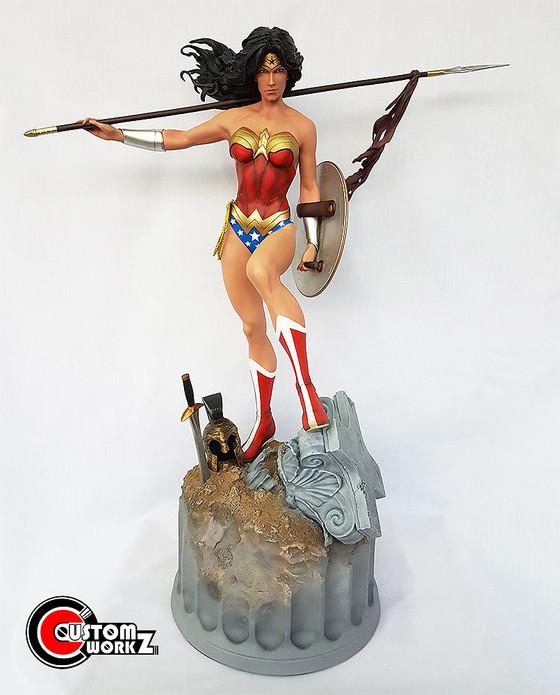Sideshow 1/4 Wonder Woman PF Statue Repaint Commission