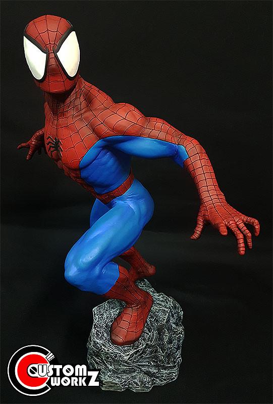 1/4 Sideshow Spider-Man Bronze Statue Modification & Repaint Commission