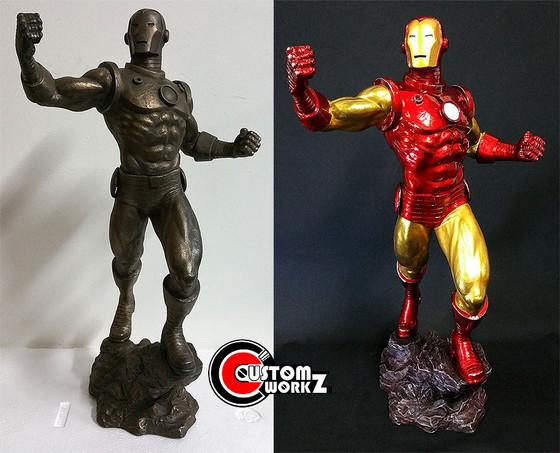 1/4 Sideshow Classic Iron Man Repaint Commission