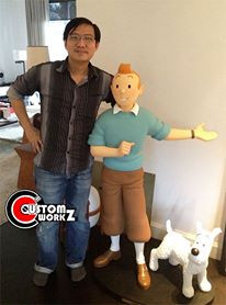 Repair and Repainting of Moulinsart 1/1 Scale Tintin Statue