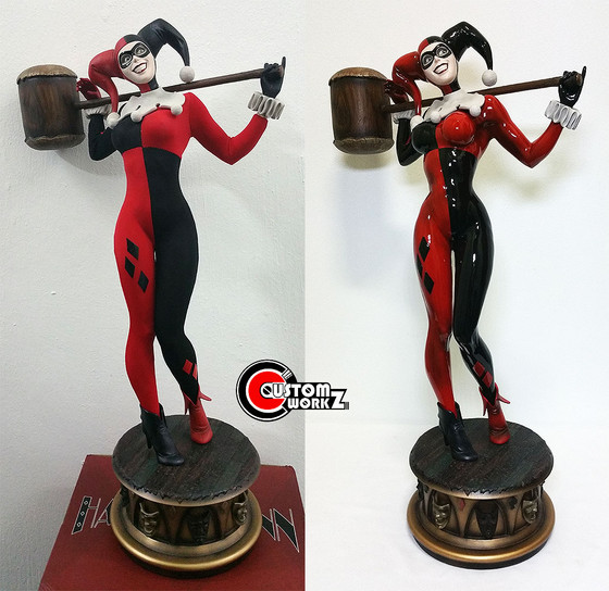 1/4 Sideshow Harley Quinn Statue Modification/Repaint Commission