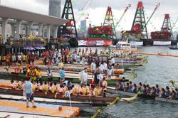 Dragon boat at Pier 9