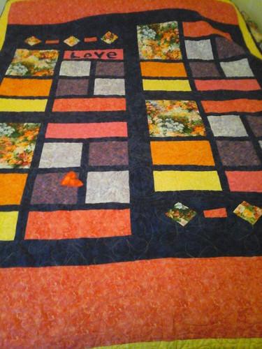 Love patchwork quilt