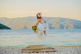 beautiful bride is flyin high