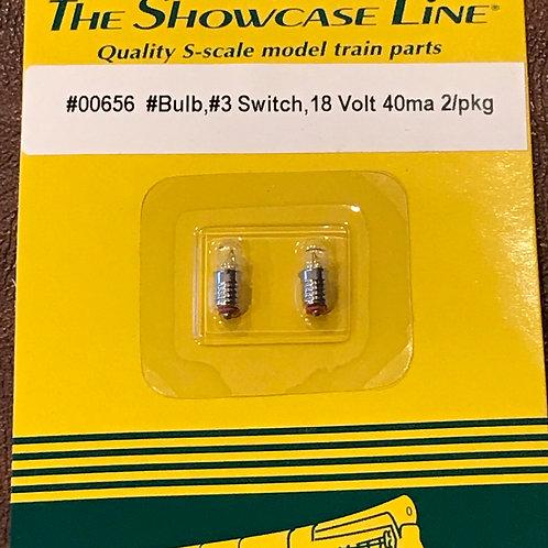 Lamp, 18V, #3 Switch, 2 per card