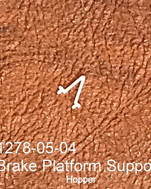 Brake Platform Support, Hopper