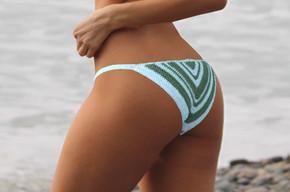 Cheeky Chevron Crochet Bikini Bottom   Free Pattern