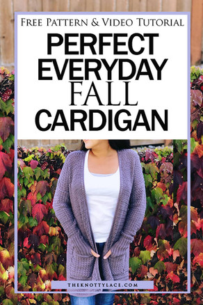 The Perfect Everyday Fall Cardigan with Pockets   Free Crochet Pattern  & Video Tutorial 📺