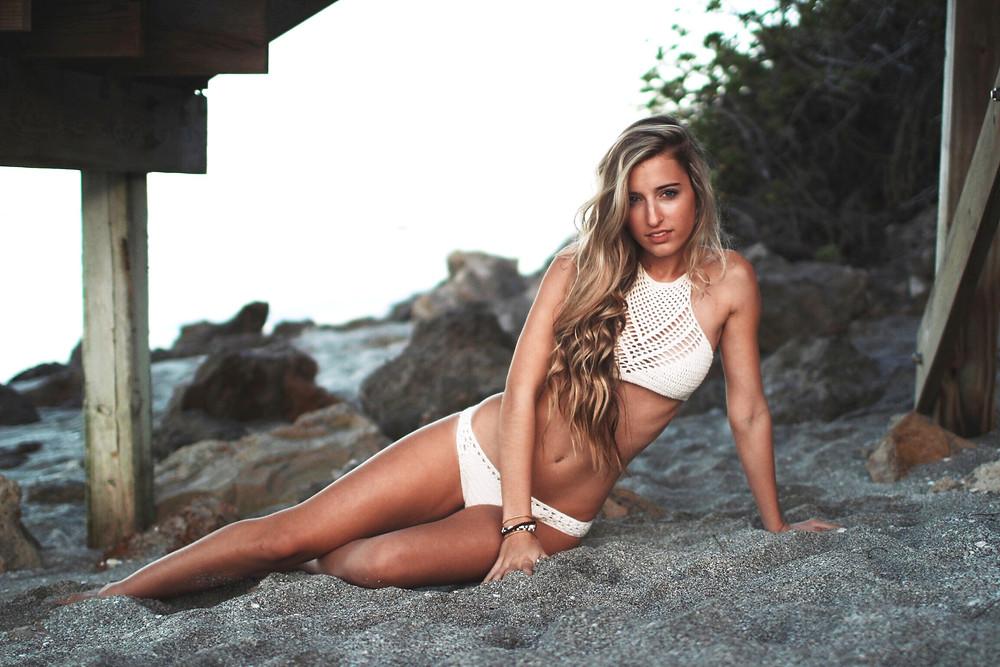 The Perfect Honeymoon Crochet Bikini. Crochet Arrowhead Halter top & Desert Bottom pattern bikini set