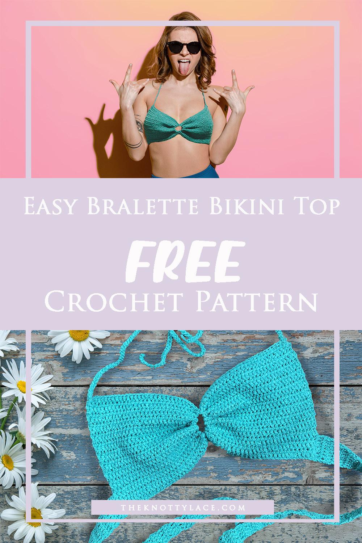 Quick Crochet Bralette Bikini Top | Free Crochet Pattern