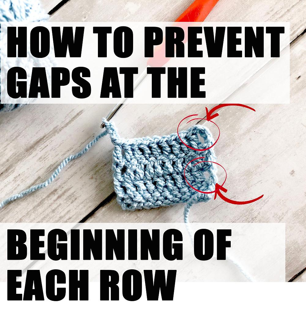How to's, crochet a new row, prevent gaps when crochet