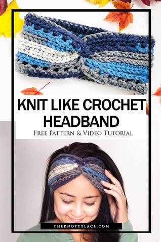 Knit-like Stitches Crochet Headband | Free Pattern & Video Tutorial 📺