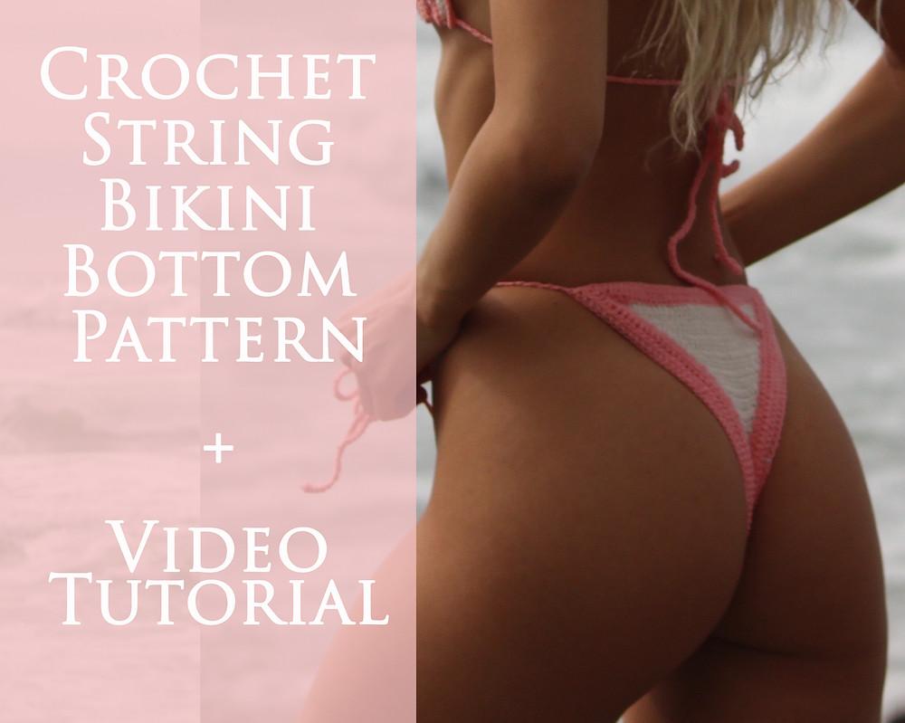 Free Crochet String Bikini Bottom Pattern and Tutorial