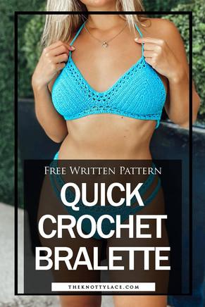 Quick & Comfortable Bralette | Free Crochet Pattern  & Video Tutorial 📺