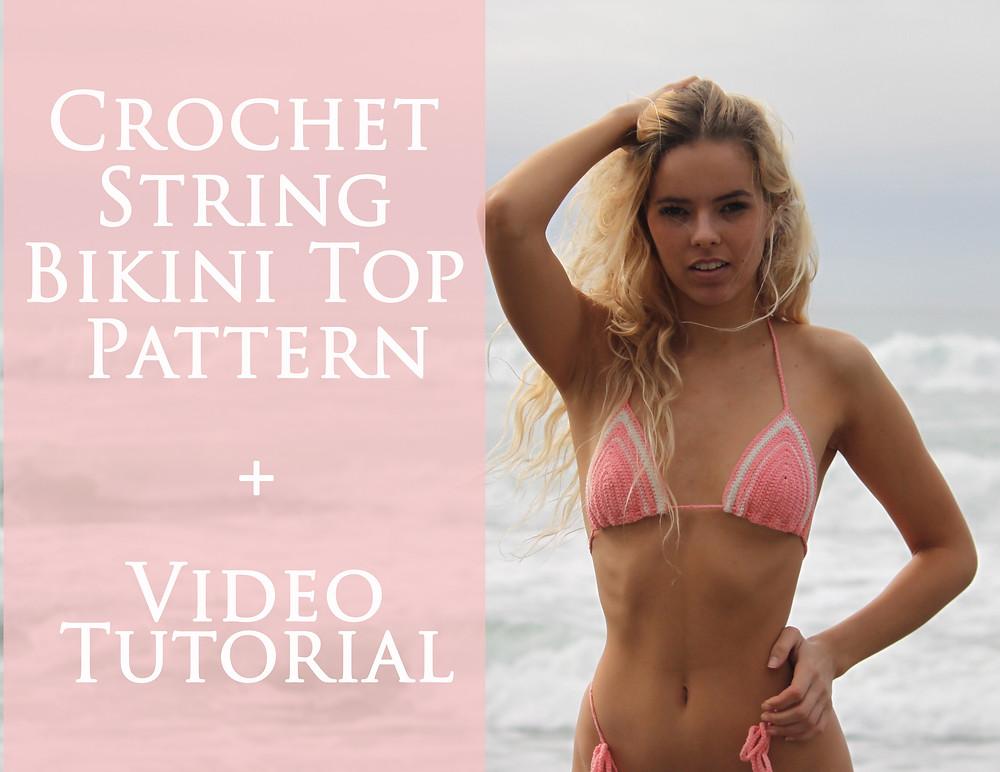 How to crochet a String Bikini Top  Free Pattern & Tutorial