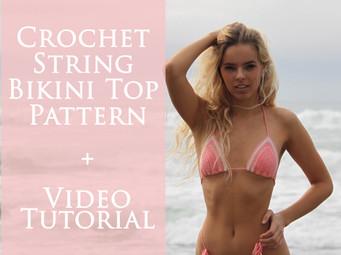 How to crochet a String Bikini Top |Free Pattern & Tutorial