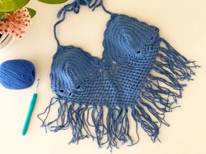 Festival Tassel Crop Top | Free Crochet Top Pattern