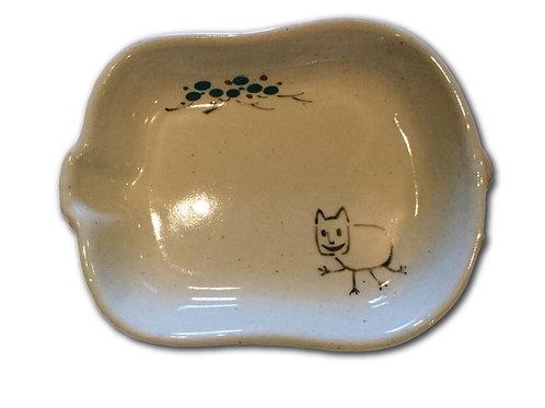 赤膚焼 小皿(猫好好) 鬼灯の冷徹